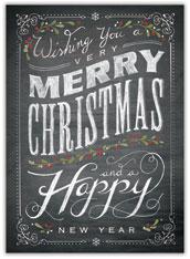 Chalkboard Merry Christmas