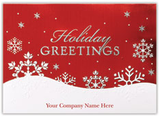 Red Snowflake Holiday Card