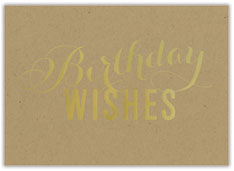 Kraft Birthday Wishes Card