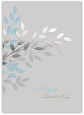 Subtle Leaves Birthday Card
