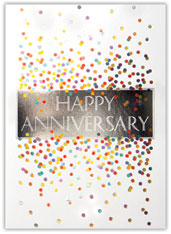 Colorful Confetti Anniversary Card