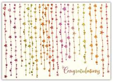 Star Streamers Congratulations Card