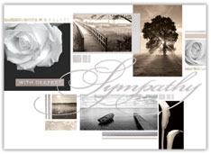 Collage of Sympathy Card