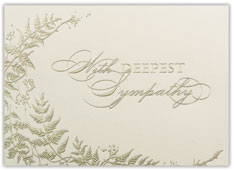 Fern Bordered Sympathy Card