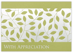 Leafy Vine Thank You Card