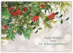 Beautiful Greenery Holiday Card