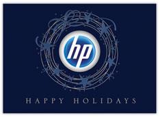 Blue Star Wreath Holiday Card
