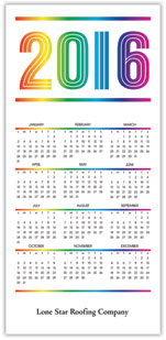 Rainbow Calendar Card