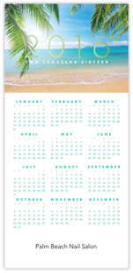 2016 Tropical Beach Calendar