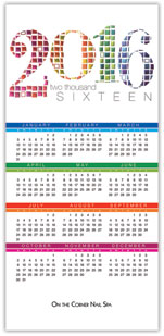 2016 Colorful Tiles Calendar