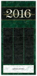 2016 Green Marble Calendar