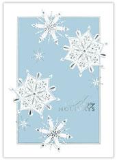 Silver Embossed Snowflakes