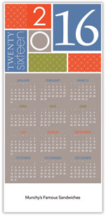2016 CONTEMPORARY COLOR BLOCK CALENDAR