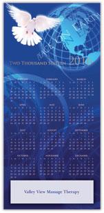 Dove and Globe Calendar