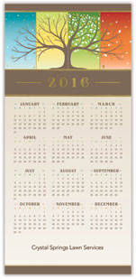 Seasonal Splendor Calendar Card