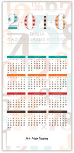 Accounting Calendar Card