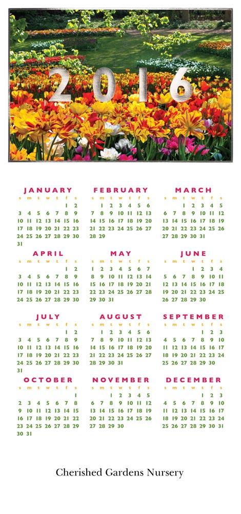 2016 flower garden calendar calendars from cardsdirect for Gardening 2016 calendar