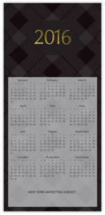 Black Tonal Calendar Card