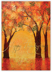Autumn Trees Thanksgiving Card