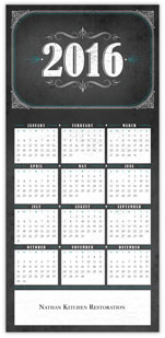 2016 Chalkboard Calendar