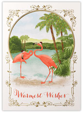 Flamingo Holiday Wishes