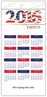 Peaceful Patriotic Calendar Card