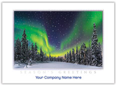 Northern Lights Holiday Card