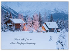 Calm Winter Holiday Card