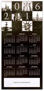 New York City Calendar Card