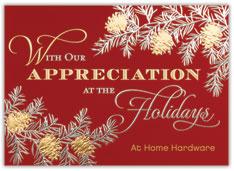 Appreciation Pinecones Holiday Card