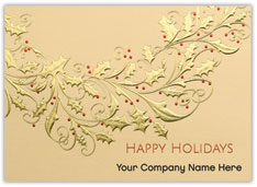 Golden Wreath Holiday Card