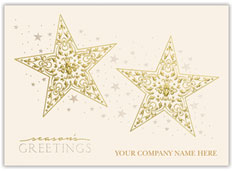 Golden Stars Holiday Card