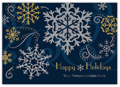 Dazzling Snowflakes Holiday Card