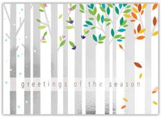 Silver Seasons Holiday Card