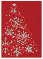 Snowflake Tree Holiday Card