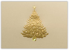 Golden Holiday Tree Card