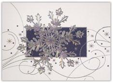 Shimmering Silver Snowflake