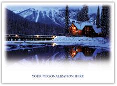 Peaceful Cabin Holiday Card