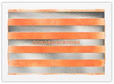Orange Watercolor Stripes