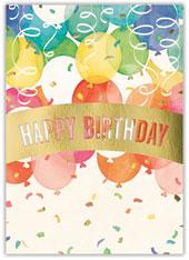 Watercolor Birthday Balloons