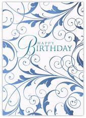 Blue Gilded Birthday