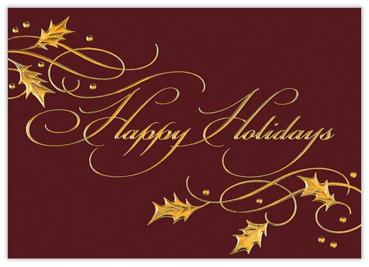 Happy Holidays Christmas Card - Happy Holidays from CardsDirect