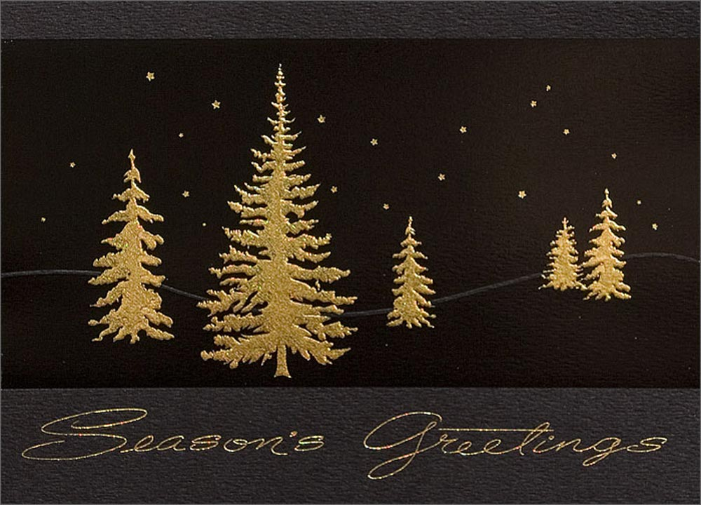 Gold Starry Night Landscapes from CardsDirect