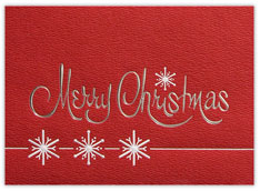 Red Textured Christmas Card