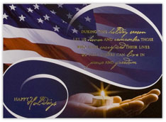 Candle in Hand Patriotic Card
