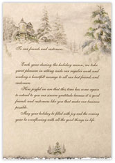 Snowy Scene Holiday Letter