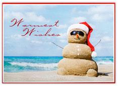 'Santa' Snowman Christmas Card