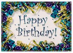 Foil Ribbons Birthday Card