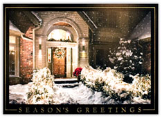 Christmas Doorway Holiday Card