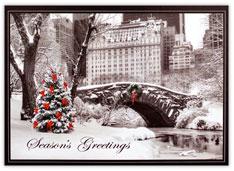Central Park Bridge & Plaza Hotel Card
